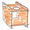 Montessori Waschtisch Schemazeichnung